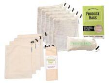Reusable Produce Bags 10 Piece Set | Organic Cotton Extra Strong Premium Large