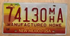 """NEW MEXICO MANUFACTURED HOME LICENSE PLATE """" 74130 MH  """" NM MOBILE HOME"""