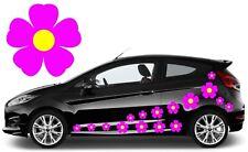 32 Cerise Rosa Y Amarillo Flor coche calcomanías, pegatinas, pegatinas de gráficos de coche, Daisy