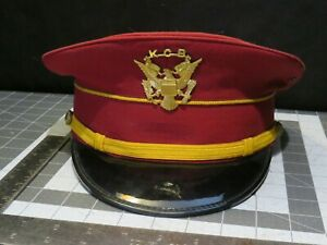 Fechheimer Brothers Fire Department Uniform Dress Hat / Band 7-1/8 KCB Cover Pin