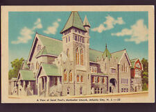 ATLANTIC CITY NEW JERSEY NJ Saint Paul's Methodist Church Old Vintage Postcard
