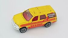 MATCHBOX MATTEL FORD EXPEDITION MOUNTAIN PATROL RESCUE 1:63 Yellow Red VGC