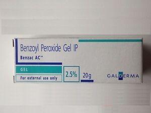 Galderma Benzoyl Peroxide 2.5% Benzac AC 20GM for acne, pimples