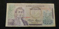 1975 EL BANCO DE LA REPUBLICA 10 PESOS ERO PAGARA AL PORTADOR COLUMBIA!  e568XXX