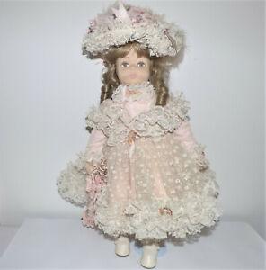 "Large Pat Thompson Vlasta Cloth Doll ""Bettina"" Antique Lace"