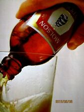 "1977 Molson Beer Original Print Ad 8.5 x 11"""