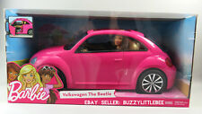 Barbie Volkswagen VW The Beetle Pink Bug Car with Doll