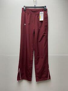 Under Armour Pregame Pants UA Team Athletic Pants XS Maroon Burgundy 1239021