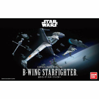"B-Wing Starfighter ""Star Wars"" 1/72, White Model Kit Bandai Hobby"