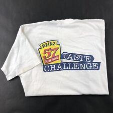 Vintage 90s T- Shirt Sz XL Heinz 57 Steak sauce Graphic Single Stitch Promo Tee