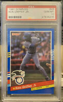 1991 Donruss #49 Ken Griffey Jr. PSA GEM MT 10