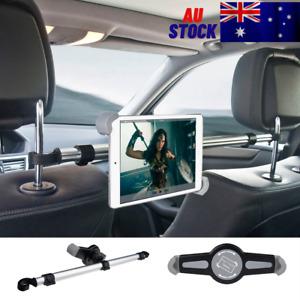 Aluminium Car Seat Headrest Tablet Holder 360° Rotating Alloy Mount for iPad PC