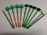 Lot of 11 Vintage Pencils (4) Lisa Frank  (5) Berol HALLOWEEN Big Erasers + 2