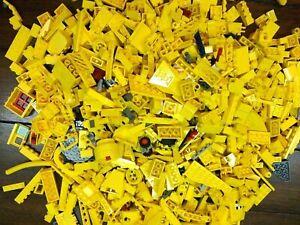 LEGO Yellow Bricks - 1Kg of Mixed Yellow Bricks Plates & Pieces - 1000g Job Lot