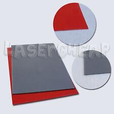 Promotion! Orange / Grey Rubber Stamp Sheet for Laser Engraving machine