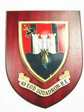 49 EOD Royal Engineers Military Shield Wall Plaque