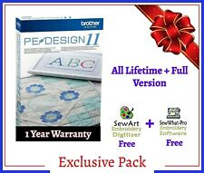 Brother PE Design 11 Software Embroidery ⭐+ SewArt + SewWhat  Free⭐ FULL VERSION