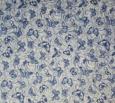 Benartex Orchid Shadows Blue Summer Butterfly Quilt Fabric by the Half Yard