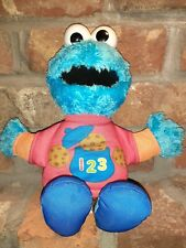 WORKS=Hasbro Sesame Street Talking 123 Counting Cookie Monster Stuffed Toy Plush