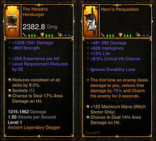 Diablo 3 ROS ps4 [Softcore] - die Horadric Hamburger & Cat Off Hand [antike]