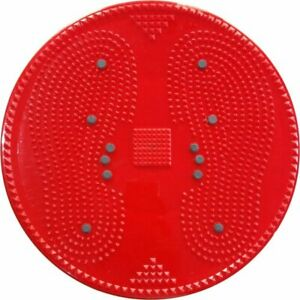 ACS Mat Acupressure Twister Big Disc Pyramid & Magnetic Treatment Therapy (Red)