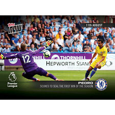 PEDRO TOPPS NOW PREMIER LEAGUE 2018 SOCCER CARD #003 SCORES FOR FIRST SEASON WIN