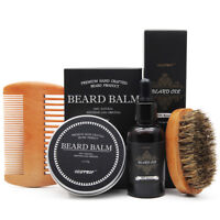 Beard Oil - Balm - Comb - Brush - Apron Beard Grooming & Trimming Kit for Men