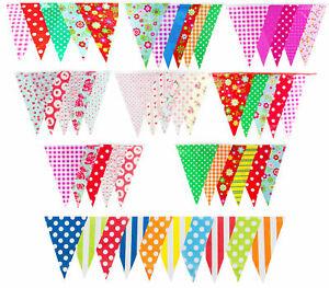 Bunting Fun Party Birthday Outdoor Garden Bride Baby Shower Floral 10m 20 Flags