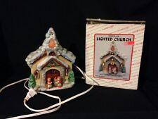 Carolers Ron Gordon designs Porcelain Lighted Church Christmas