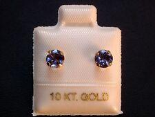 Feinste Iolith Ohrstecker - 5 mm - 10 Kt. Gold - 417 - Ohrringe Brillant Schliff