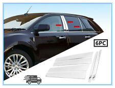 Fit 07-14 Ford Edge/Lincoln MKX Stainless Steel Chrome Pillar Post Trim Cover