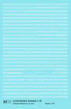 K4 HO Decals White 1/8 Inch Condensed Roman Letter Number Alphabet Set