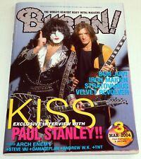 KISS Band PAUL STANLEY Burrn Japan Magazine 2004 Damageplan Pantera Andrew WK