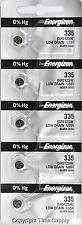 5 pcs 335 Energizer Watch Batteries SR512SW 512SW 0% HG