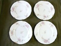 "Theodore Haviland Limoges Schleiger Set 4 Plates 9"", T H Pressed on the Back"