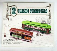 2 CLASSIC STREETCARS DESIRE ST Cable Car w/ POWELL & MASON Trolley HO Scale NIB