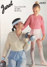 Jarol Knitting Pattern Ladies/girls Ballet Cardigan Size  26/38""