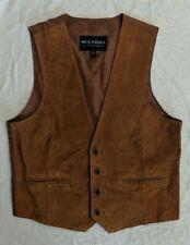Vintage Wilsons Brown Suede Leather Vest, Mens Size M Medium