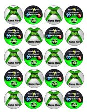 Personalised 20 x Xbox CupCake Toppers