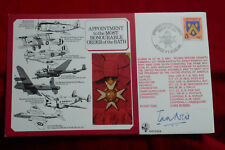 1985 ROYAL AIR FORCE RAF SIGNED FIRST DAY COVER  P I A NEIL ORDER of the BATH VG