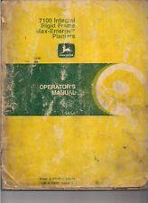 John Deere 7100 Integral Rigid Frame Max-Emerge Planter Operator Manual Oma36991