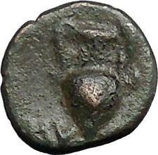 Myrina in Aeolis 2nd-1st Cent BC Rare Ancient Greek Coin Helios Amphora  i49519