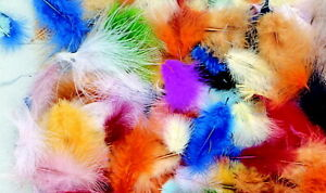Creativity Street Marabou Feathers, Assorted Colors, 1/2 Ounce Bag, Pack of 150