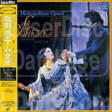 Giacomo Puccini (Metropolitan Opera) La Boheme - Japanese Laserdisc + OBI - RARE