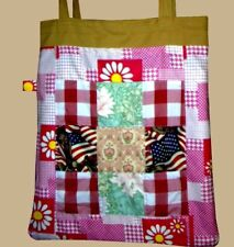 Patchwork Tote Bag Unique Stylish Fashionable 4uni/college/school/work/holiday