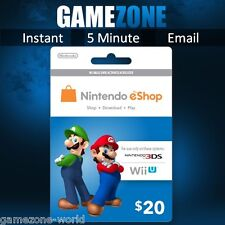 Nintendo eShop Gift Card Code - $20 USD USA Nintendo Key Swith 3DS/DS/Wii