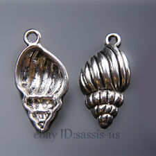 30pcs 25mm Charms Conch shell Pendant Tibet Silver DIY Jewelry Making Bail A7432