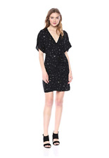 PAIGE Cherelle Dress, Black/Sandy Shell, Size Small, NWT