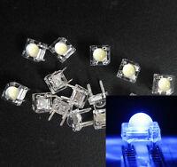 50Pcs 5mm F5 Piranha LED Blue Round Head Super Bright Light Emitting Diode