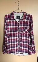 Women's Rails Size XS Purple Blue Grey Flannel Button Down Plaid Long Sleeve
